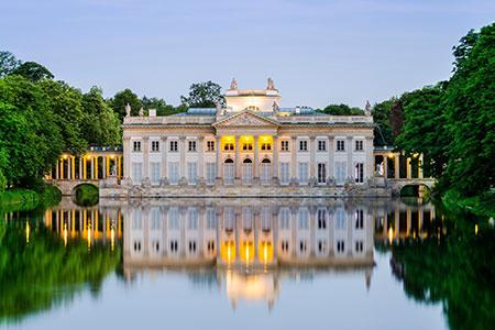 Lazienki Park Palacio flotante