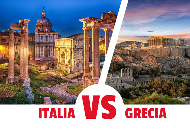 ¿Visitar italia o grecia?