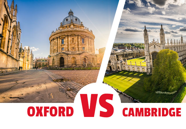 ¿Viajar a Oxford o a Cambridge?